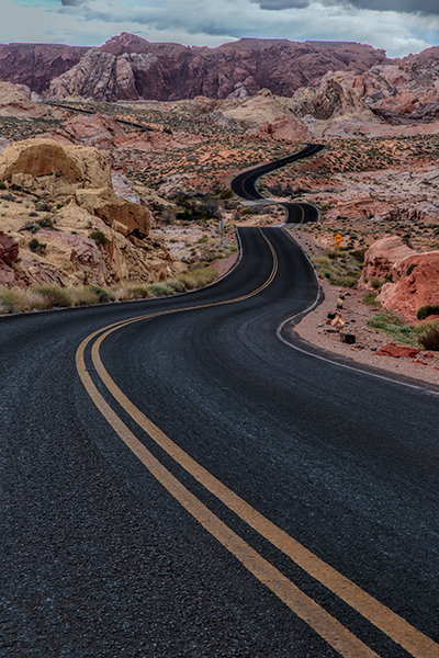 Scenic Drive in Valley of Fire. 1/10, f/16, ISO 100. EOS 5D Mark III with EF 24-70 f/2.8L II.