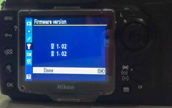 Nikon firmware image