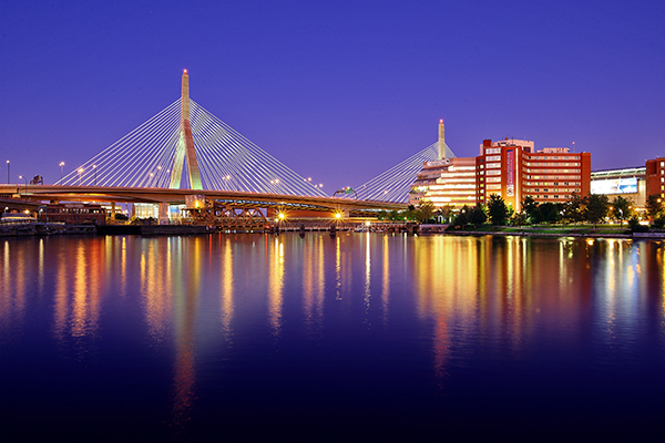 Boston's Zakim Bridge. EOS-1D Mark III with EF 24-105 f/4L IS. 30 seconds, f/11, ISO 100.