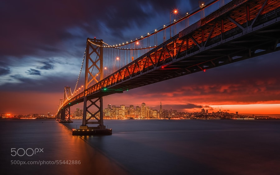 Photograph Fire over San Francisco by Toby Harriman on 500px