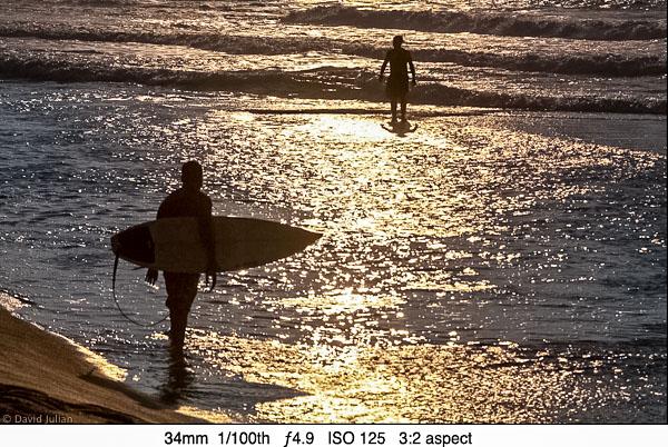DJulian Backlit surfers Kona