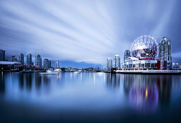 Longa exposição do mundo da ciência em Vancouver