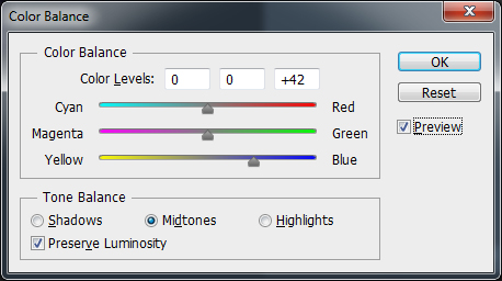 Photoshop Color Balance