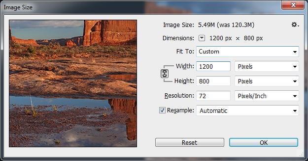 Photoshop Image Resize