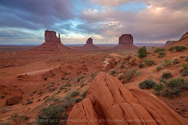 Monument Valley Landscape Sunset