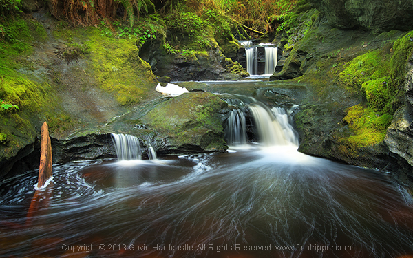 Vancouver Island Waterfall Landscape Image Crop - Gavin Hardcastle
