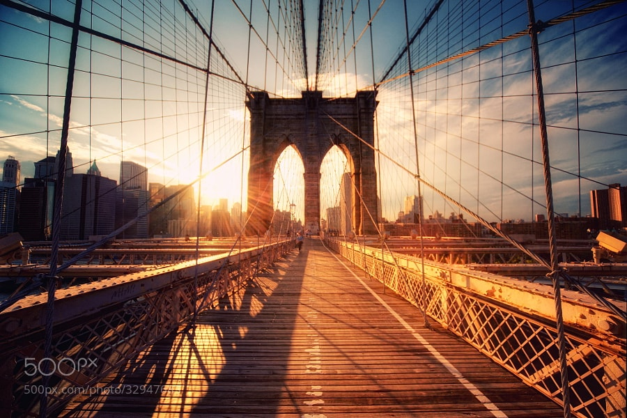Photograph Brooklyn Bridge Sunset by Philipp Klinger on 500px