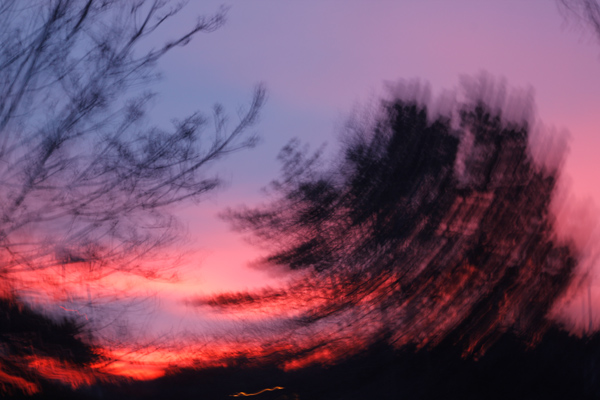intentional camera movement, ICM, blur, motion, abstract, sunrise