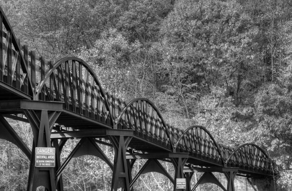 In Black and White it becomes easier to see how this bridge draws the views eye into the mage