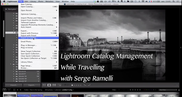 Video Tutorial How to Manage Your Lightroom Catalog While Travelling