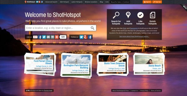 Finding New Photography Locations Just Got Easier With ShotHotspot