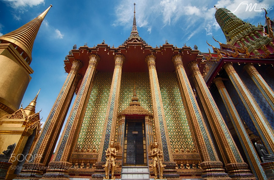 Photograph Gold exterior of Phra Mondop by Sunny Merindo on 500px