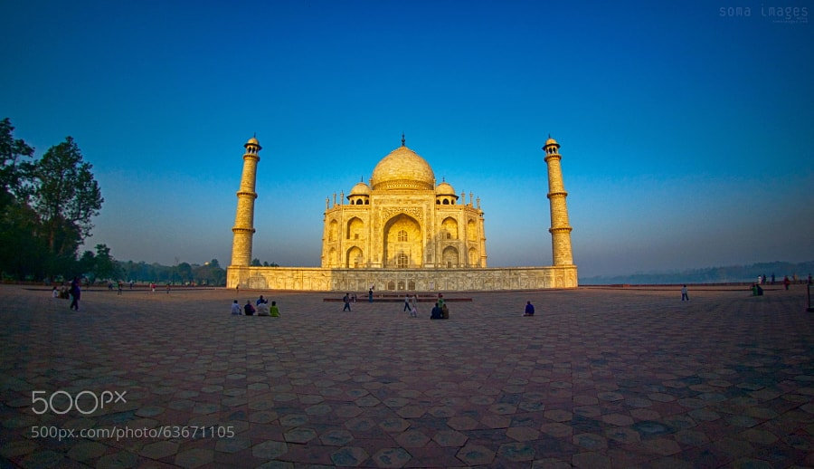 Photograph Taj Majal courtyard view by Soma Images on 500px