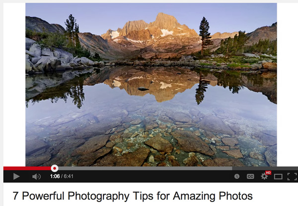 A Quick Video with 7 Tips to Create More Powerful Images