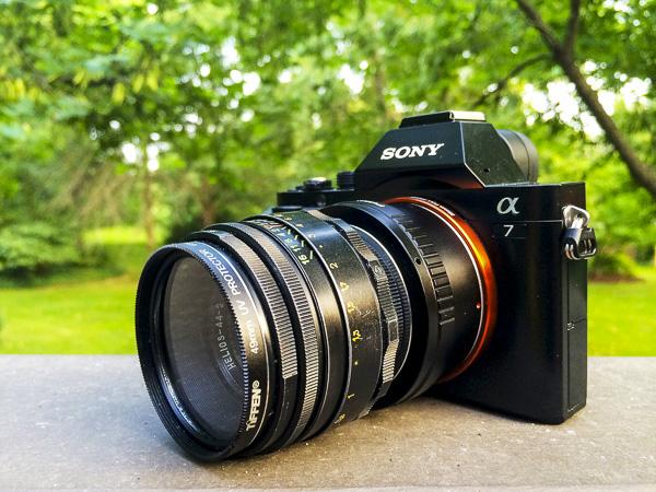 sony a7, helios lens,