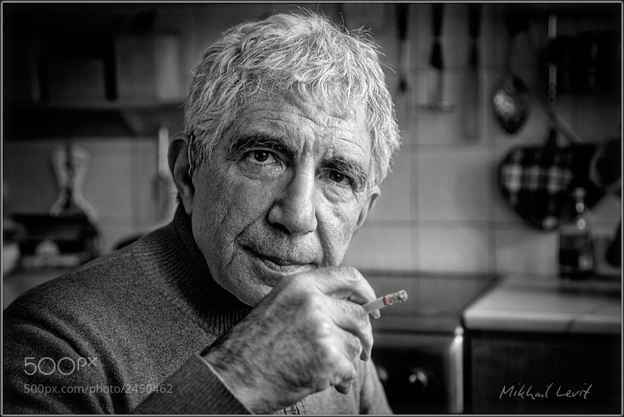 Photograph A portrait of friend in a kitchen setting by Mikhail Levit on 500px