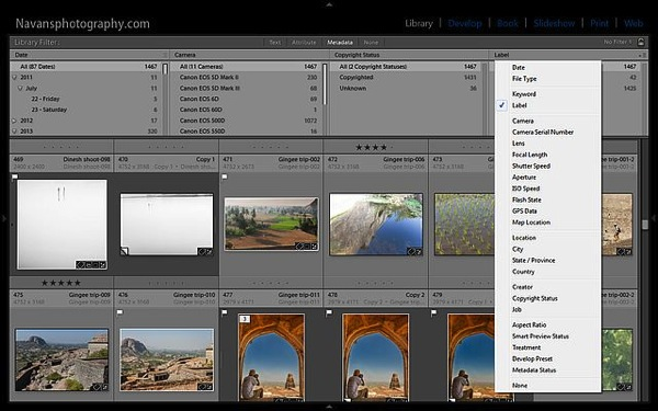 Lightroom FilterBar Metadata 05