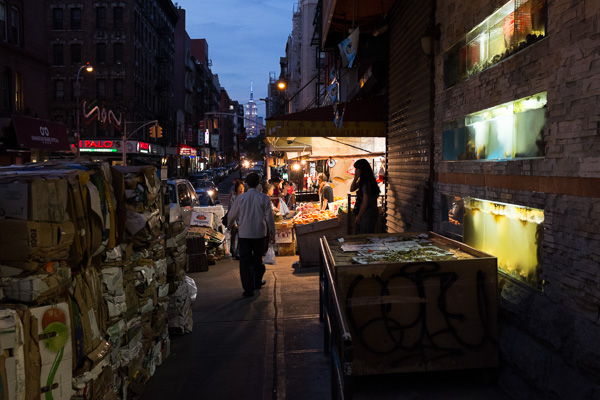 Chinatown at Night. Subtle but strong and natural colors.