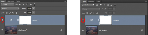 Eyeball On and Off - Showing Changes in Image