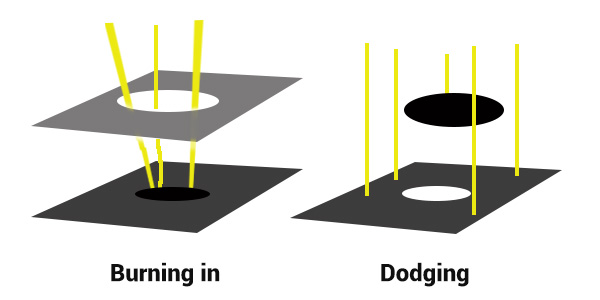 Darkroom Burning and Dodging digram