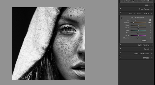 How to Make Freckles POP or Disappear using Lightroom