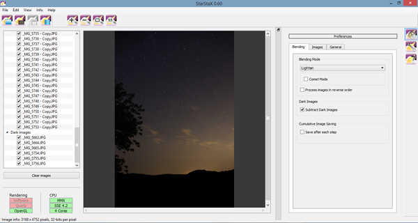 StarStax, star photography, stacking, star trails, how to