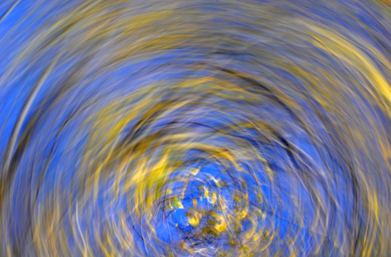 Camera swirl, this image was made by rotating the camera anti-clockwise while the shutter was open
