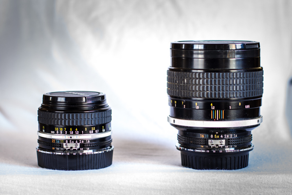 50mm and 85mm