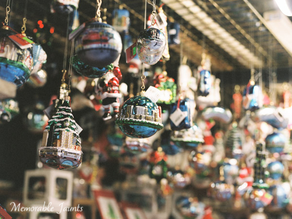 Film Photos of Christmas Ornaments in Chicago Downtown Memorable Jaunts Lifestyle Film Photographer