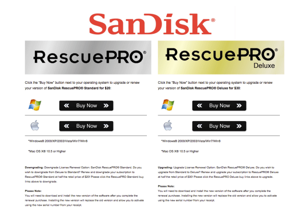 SanDisk Recovery PRO memory card recovery