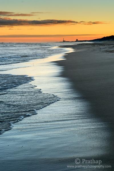 7 Hermoso amanecer en la playa del Parque Estatal de Indiana Dunas en Horas Doradas Naturaleza Paisaje Paisaje marino Fotografía de aves por Prathap