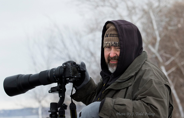Writer with Tamron 150-600 on his Nikon D7100 in Le Claire Iowa. Photo by: J. Todd Polling