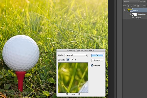 golf-ball-lens-flare