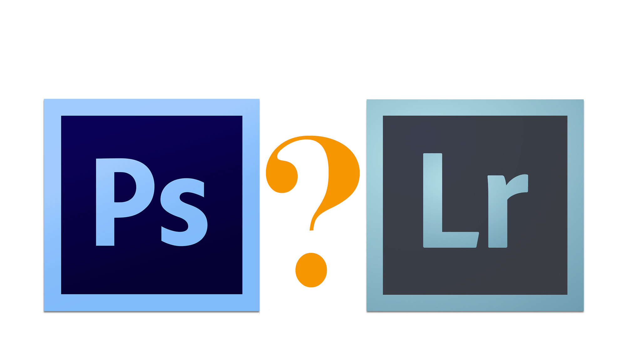 Photoshop between lightroom difference and