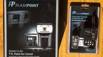 FlashPoint Li-on zoom flash and commander set