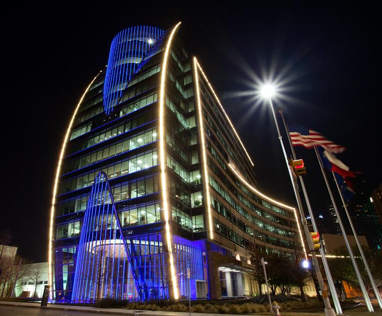 Fotografia noturna em Dallas