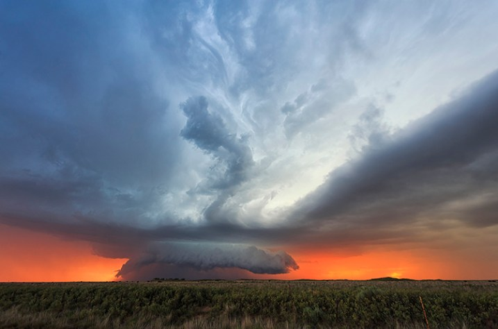 """Sunset Supercell "" © Marko Korosec"