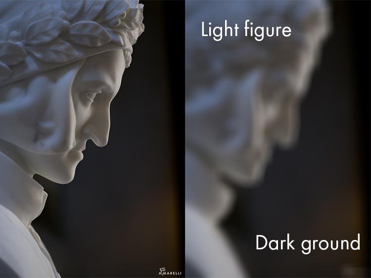 1 Light figure on a dark ground