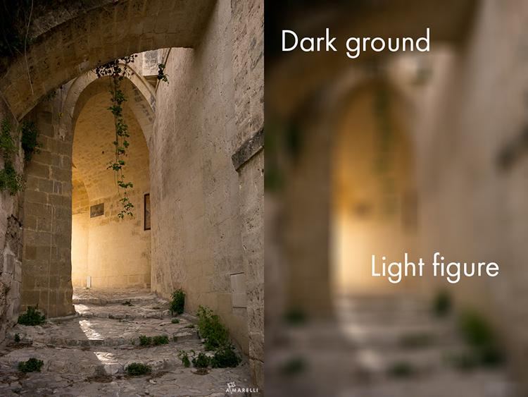 5 Light figure on a dark ground
