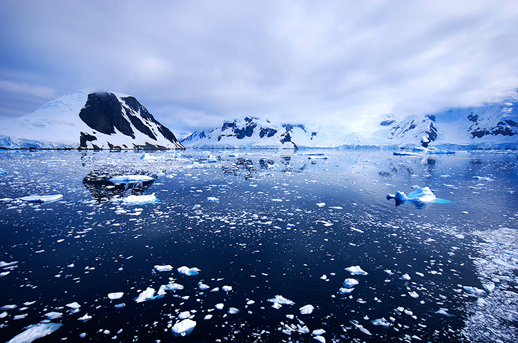 The beauty of the scenery in Antarctica