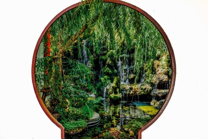 Framing of a hidden Chinese garden.
