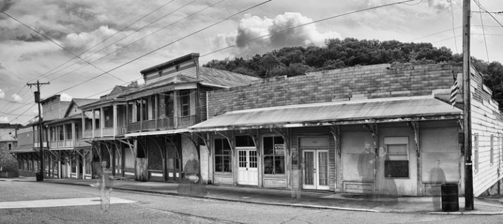 This ghost image was created in Photoshop by combining an image of an old ghost town and scanning some old family photos to use as ghost images.