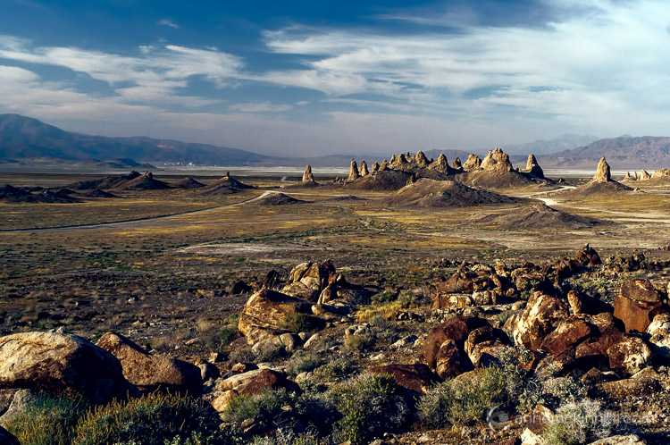 Trona Pinnacles, California with a nice foreground to create depth