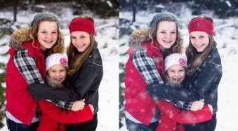 Make it Snow with Pure Photoshop Actions Winter Wonderland Set