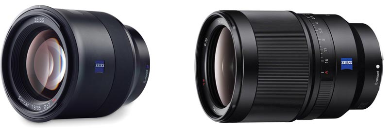 The Zeiss Batis 85mm and Sony SEL35F14Z 35mm lenses