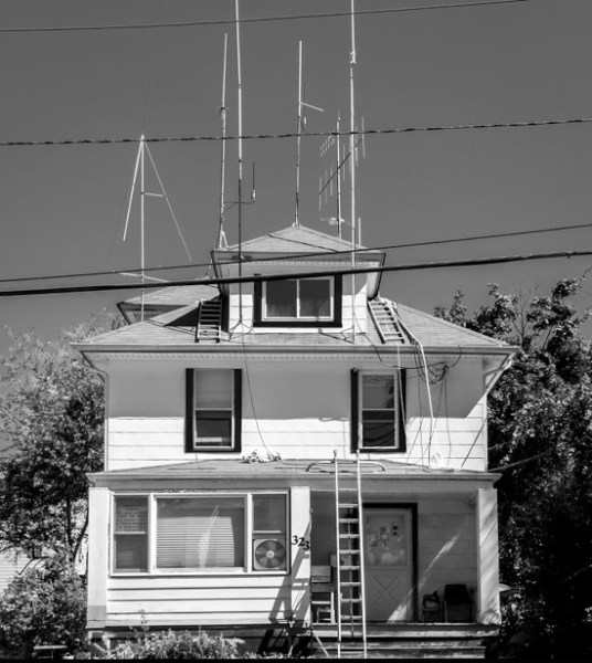 Ham Radio Operator's House, New Jersey by Neil Persh