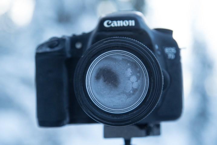 This is what happens if you accidentally breathe on your lens during a cold weather shoot.