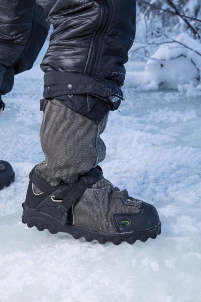 The author's well-worn NEOS overboots.