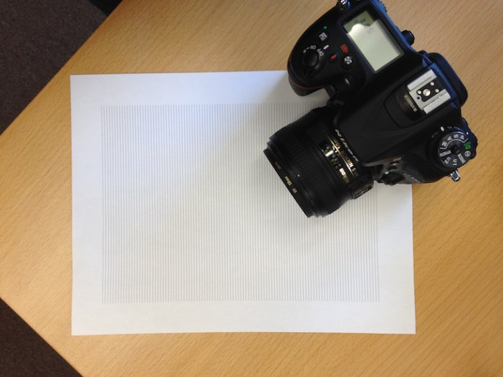 Test your camera's focus sensors with nothing but a lined piece of paper.
