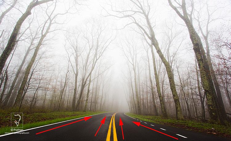 01 Leading Lines Composition Techniques Landscape Photography by Prathap Skyline Drive